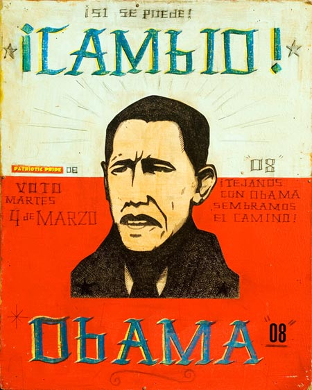 Barack Obama Silkscreen Poster by Date Farmers